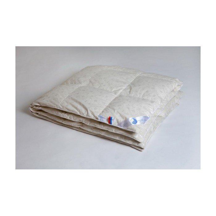 Одеяло пуховое кассетное теплое двухспальное Камелия