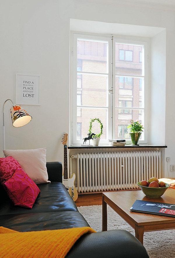 Фотография: Гостиная в стиле Скандинавский, Современный, Малогабаритная квартира, Квартира, Швеция, Дома и квартиры – фото на InMyRoom.ru