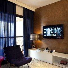 Фотография: Гостиная в стиле Современный, Малогабаритная квартира, Квартира, Дома и квартиры, Бразилия, Сан-Паулу, Перегородки – фото на InMyRoom.ru