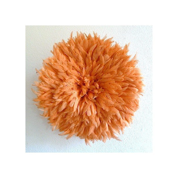 Камерунская шляпа  средняя (50 см) пастельно оранжевая