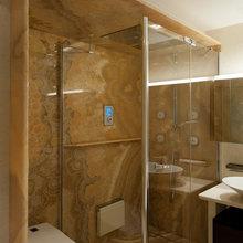 Фотография: Ванная в стиле Современный, Квартира, Дома и квартиры, Подсветка – фото на InMyRoom.ru
