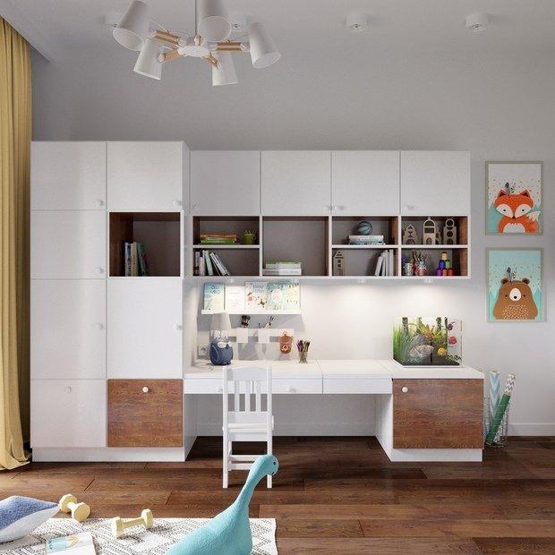 Фотография: Детская в стиле Современный, Квартира, Проект недели, Химки, Монолитный дом, 3 комнаты, 60-90 метров, Анна Русскина – фото на INMYROOM