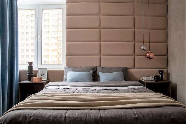Фотография: Спальня в стиле Современный, Квартира, Проект недели, Одинцово, 2 комнаты, 60-90 метров, Виктория Иванова – фото на INMYROOM