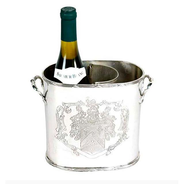 Кулер для вина Eichholtz Maggia Single из никелированного металла