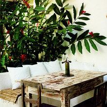 Фотография: Терраса в стиле Восточный, Дома и квартиры, Городские места, Отель, Бассейн, Эко, Балдахин – фото на InMyRoom.ru