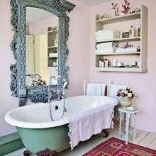 Фотография: Ванная в стиле Кантри, Классический, Эклектика, Декор интерьера, Аксессуары, Декор – фото на InMyRoom.ru