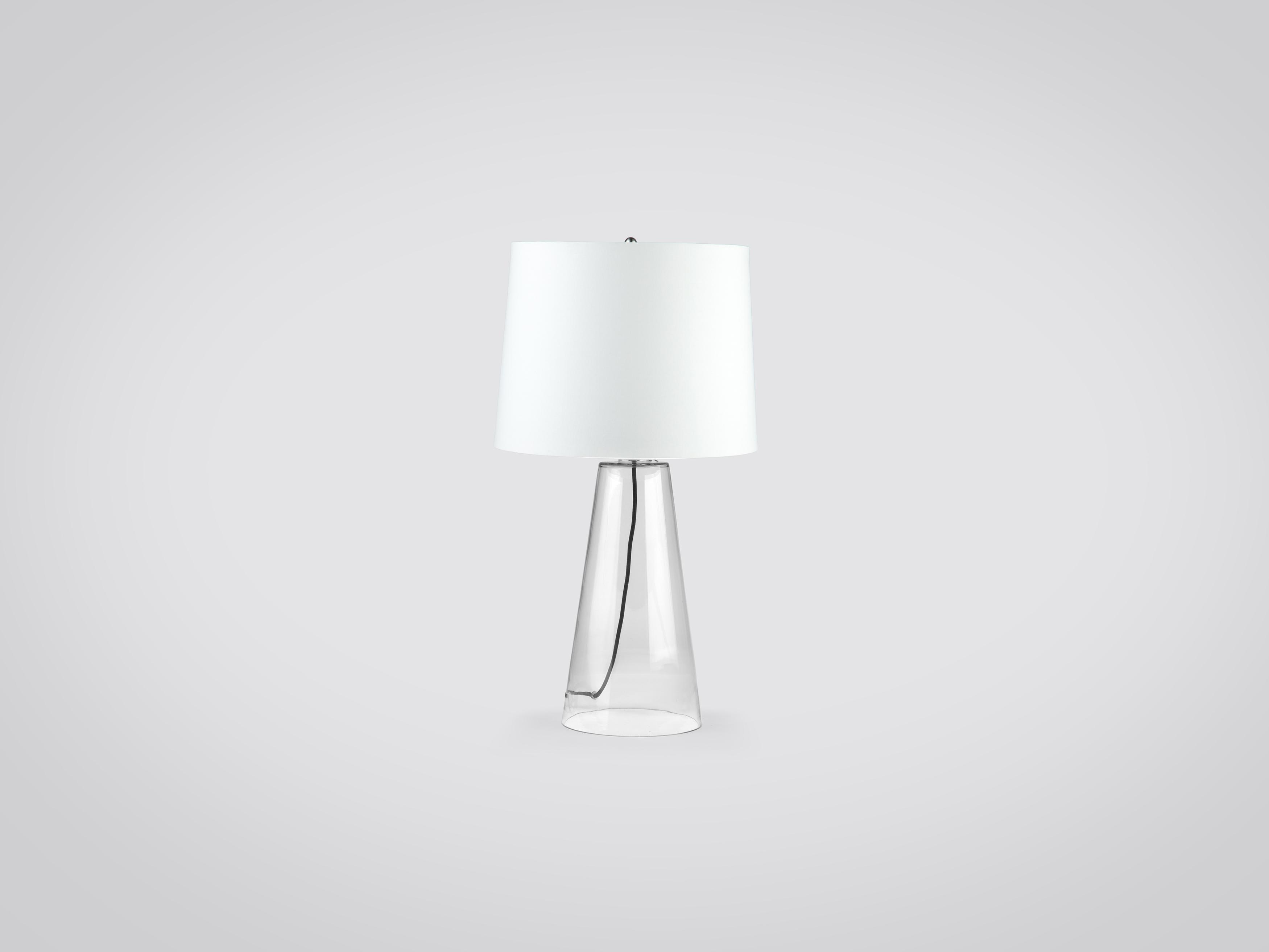 Купить Лампа настольная на ножке из прозрачного стекла, inmyroom, Китай