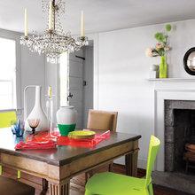 Фотография: Кухня и столовая в стиле Классический, Скандинавский, Современный, Эклектика, Декор интерьера, Дизайн интерьера, Цвет в интерьере, Желтый, Розовый, Оранжевый, Неон – фото на InMyRoom.ru