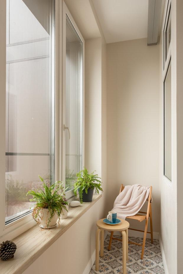 Фотография: Балкон в стиле Скандинавский, Современный, Квартира, Проект недели, Москва, Buro Brainstorm, 1 комната, 40-60 метров – фото на INMYROOM