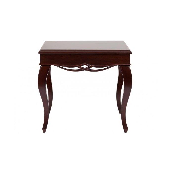 Журнальный столик коричневый деревянный