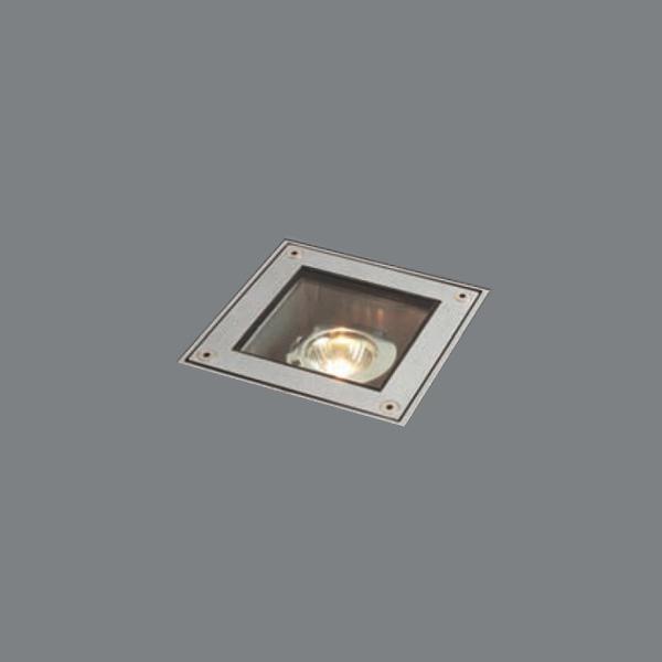 Встраиваемый светильник Wever &Amp; Ducre Mini Sunset Carre ii Silver из анодированного алюминия