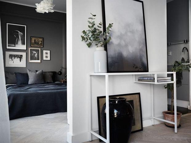 Фотография: Спальня в стиле Минимализм, Скандинавский, Квартира, Швеция, Стокгольм, Гид, дизайн-гид, малогабаритка, до 40 метров – фото на INMYROOM