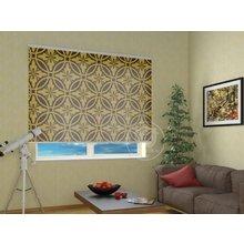 Рулонные шторы в гостиную: Круговой орнамент
