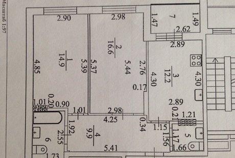 Помогите с перепланировкой 2-х комнатной квартиры 60.1 м