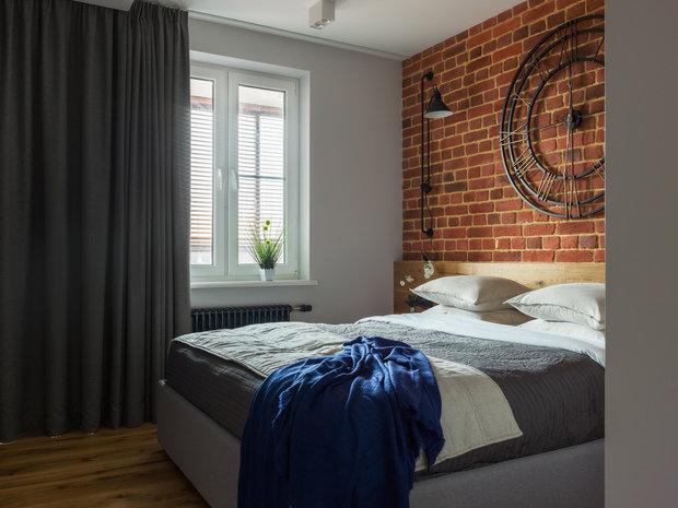 Фотография: Спальня в стиле Лофт, Современный, Квартира, Проект недели, Geometrium, Монолитный дом, 2 комнаты, 60-90 метров, ЖК «Сколковский» – фото на INMYROOM