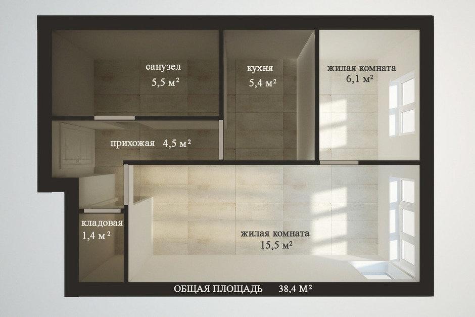 Фотография: Кабинет в стиле , Квартира, Планировки, Перепланировка, ЖК АРТ, перепланировка двухкомнатной квартиры, двушка, планировка двушки, ЖК ART – фото на InMyRoom.ru