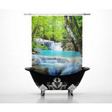 Шторки в ванну: Водопад Paradise