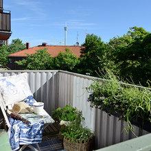 Фотография: Балкон, Терраса в стиле Современный, Малогабаритная квартира, Квартира, Швеция, Мебель и свет, Дома и квартиры – фото на InMyRoom.ru