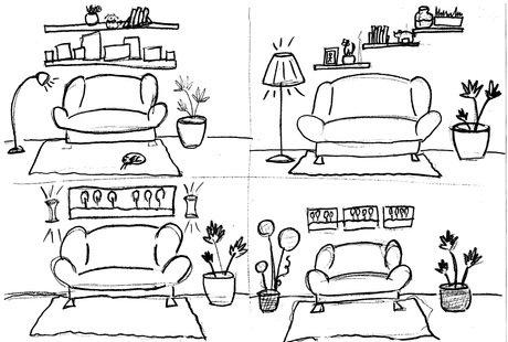Помогите правильно разместить мебель