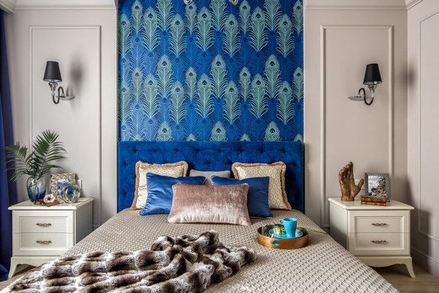 Фотография: Спальня в стиле Эклектика, Советы, Обои, как поклеить обои, Quelyd, дорогие обои – фото на INMYROOM