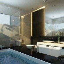 Фотография: Ванная в стиле Современный, Декор интерьера, Освещение, Мебель и свет – фото на InMyRoom.ru