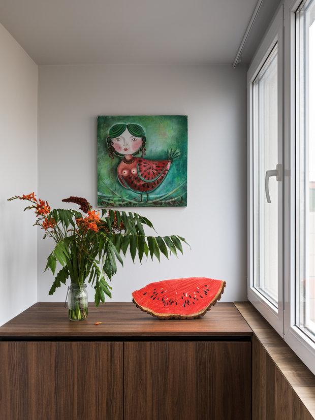 Фотография: Балкон в стиле Современный, Квартира, Проект недели, Минск, Панельный дом, 3 комнаты, 60-90 метров, Елена Ерашевич – фото на INMYROOM