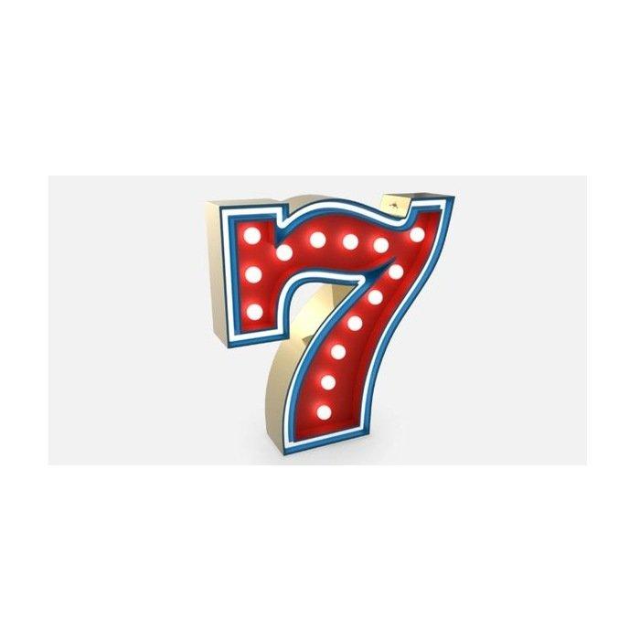 Светильник цифра 7