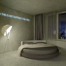 Фотография: Спальня в стиле Современный, Эклектика, Декор интерьера, Квартира, Дома и квартиры, Проект недели – фото на InMyRoom.ru
