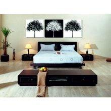 Декоративная картина: Черно-белые деревья