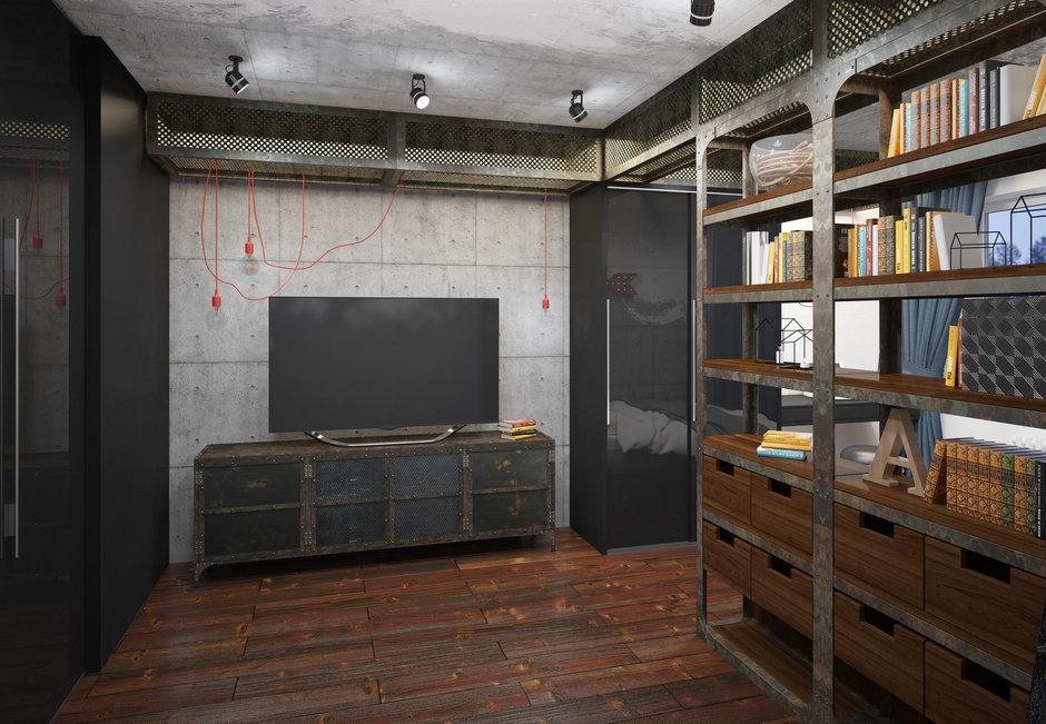 Фотография: Гостиная в стиле Лофт, Проект недели, П-3М, GM-Interior – фото на InMyRoom.ru
