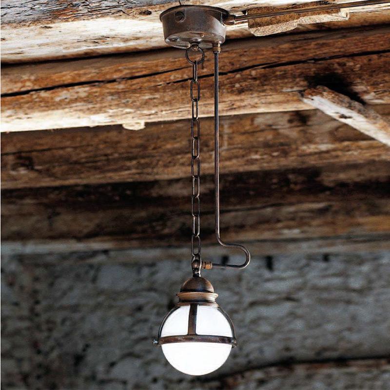 Подвесной светильник  Aldo Bernardi Loggiato из матового белого стекла