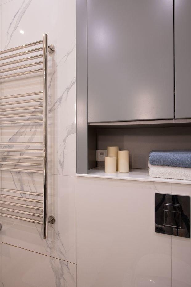 Фотография: Ванная в стиле Современный, Минимализм, Квартира, Проект недели, Москва, Buro Brainstorm, 3 комнаты, 60-90 метров – фото на INMYROOM