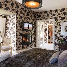 Фотография: Спальня в стиле Кантри, Эклектика, Дом, Дома и квартиры, Камин – фото на InMyRoom.ru