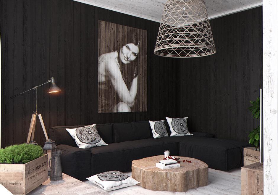 Фотография: Гостиная в стиле Современный, Квартира, Дома и квартиры, Перепланировка, Переделка – фото на InMyRoom.ru
