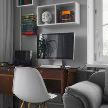 Фотография: Офис в стиле Скандинавский, Малогабаритная квартира, Квартира, Дома и квартиры, IKEA, Проект недели, Максим Тихонов, Ольга Мелекесцева – фото на InMyRoom.ru