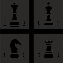 Резная зеркальная панель: Шахматные фигуры