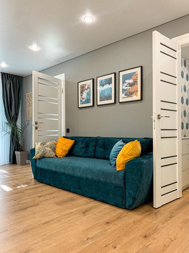 Фотография: Гостиная в стиле Современный, Ремонт на практике – фото на INMYROOM