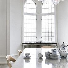 Фотография: Кухня и столовая в стиле Минимализм, Скандинавский, Квартира, Швеция, Цвет в интерьере, Дома и квартиры, Белый – фото на InMyRoom.ru