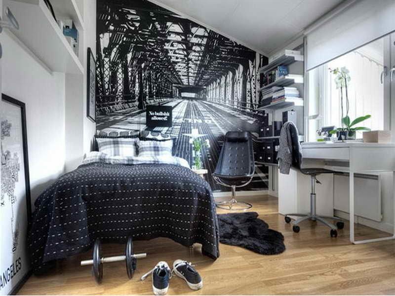 Современная спальня в стиле техно