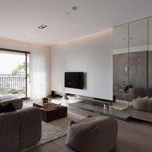 Фотография: Гостиная в стиле Лофт, Декор интерьера, Декор дома, Зеркала – фото на InMyRoom.ru