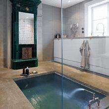 Фотография: Ванная в стиле Эклектика, Лофт, Декор интерьера, Декор дома, Стены – фото на InMyRoom.ru
