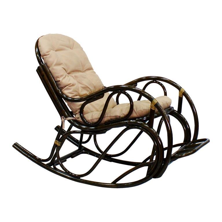 Кресло-качалка с подножкой Promo из натурального ротанга