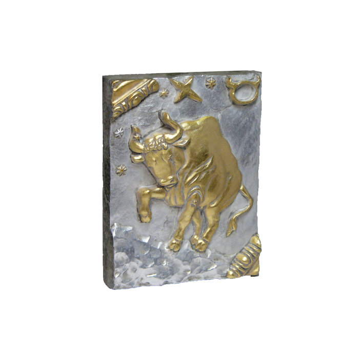 Панно Знак зодиака ТЕЛЕЦ (серебряно-золотой)