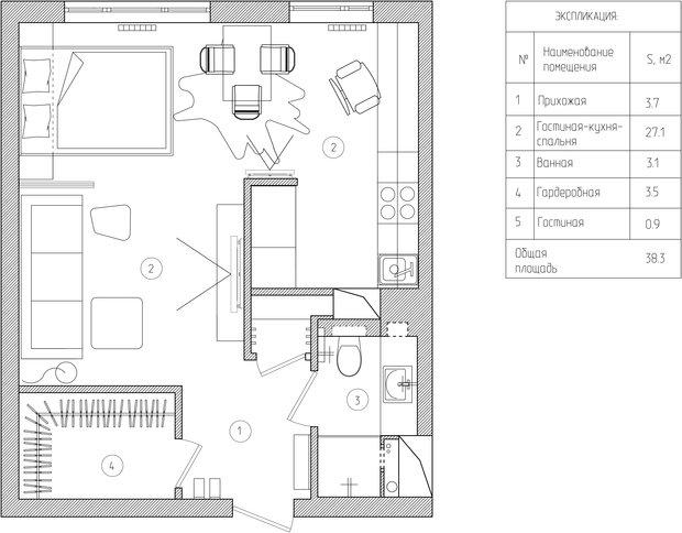 Фотография: Прочее в стиле Хай-тек, Малогабаритная квартира, Квартира, Дома и квартиры – фото на InMyRoom.ru