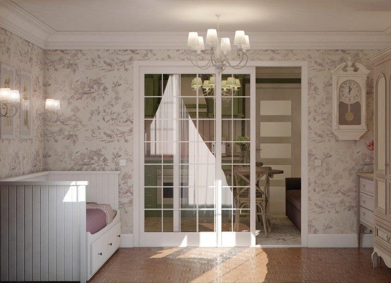 Фотография: Спальня в стиле , Малогабаритная квартира, Квартира, Дома и квартиры – фото на InMyRoom.ru
