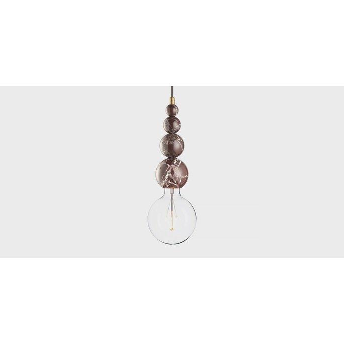 Подвесной светильник из мрамора Marmor Slipp rosso