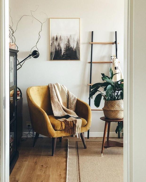 Фотография: Гостиная в стиле Скандинавский, Квартира, Проект недели, 3 комнаты – фото на INMYROOM