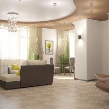Фото из портфолио Гостиная с зеленым декором – фотографии дизайна интерьеров на InMyRoom.ru
