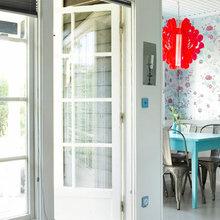 Фотография: Кухня и столовая в стиле Скандинавский, Дом, Цвет в интерьере, Дома и квартиры, Бирюзовый – фото на InMyRoom.ru