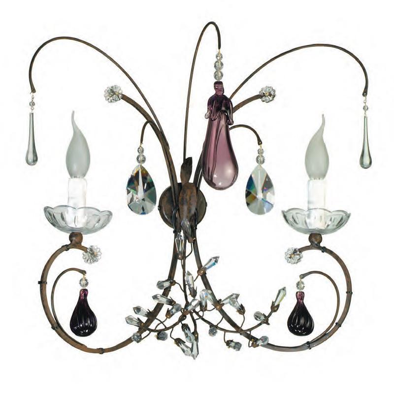 Купить Бра с элементами из муранского стекла Tredici Design, inmyroom, Италия